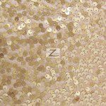 Rain Drop Sequins on Taffeta Fabric Champagne