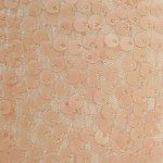 Rain Drop Sequins on Taffeta Fabric Dusty Matte Pink