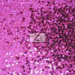 Rain Drop Sequins on Taffeta Fabric Fuchsia