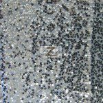 Rain Drop Sequins on Taffeta Fabric Silver