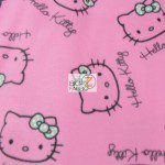 SPRINGS CREATIVE FLEECE FABRIC BY THE YARD HELLO KITTY PINK