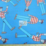 VIP CRANSTON FLEECE FABRIC BY THE YARD WHERE'S WALDO TOSS