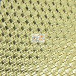 Lattice Vinyl Fabric By The Yard Gold