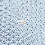 Lattice Vinyl Fabric By The Yard Silver