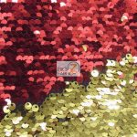 Mermaid Sequins Fabrics By The Yard Red Gold
