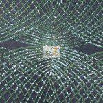 Unique Diamond Fabric By The Yard Black Green