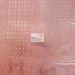 African Crocodile Vinyl Fabric By The Yard Pink Silver