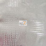 African Crocodile Vinyl Fabric By The Yard Silver Silver (Copy)