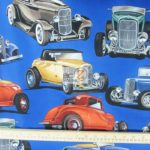 Deuces Vintage Cars Alexander Henry Cotton By Yard