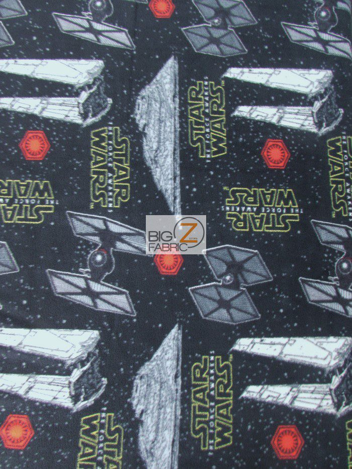 Star Wars The Force Awakens Fleece Fabric By The Yard
