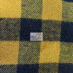 Tartan Plaid Flannel Fabric By The Yard Black Yellow