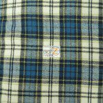 Tartan Plaid Flannel Fabric By The Yard Blue White Olive