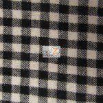 Tartan Plaid Flannel Fabric By The Yard Buffalo Mini Black