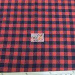 Tartan Plaid Flannel Fabric By The Yard Buffalo Red Black