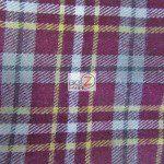 Tartan Plaid Flannel Fabric By The Yard Burgundy White