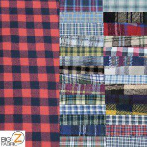 Tartan Plaid Flannel Fabric By The Yard (Copy)