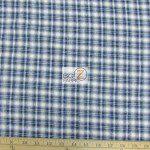 Tartan Plaid Flannel Fabric By The Yard Cream Blue