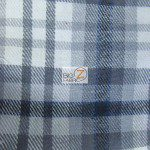Tartan Plaid Flannel Fabric By The Yard Gray Black