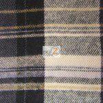 Tartan Plaid Flannel Fabric By The Yard Gray Black Yellow