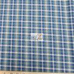 Tartan Plaid Flannel Fabric By The Yard Olive Blue
