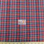 Tartan Plaid Flannel Fabric By The Yard Red Black