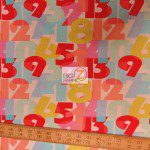123 Numbers Michael Miller Cotton Fabric By Yard