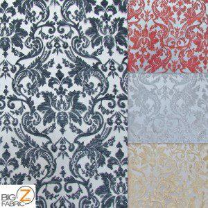 Classic Damask Lace Fabric By Yard