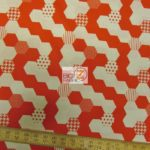 Hexies Red Michael Miller Cotton Fabric By Yard