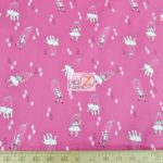 Let's Pretend Pink Puppets Michael Miller Cotton Fabric By Yard