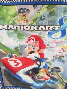 Mario Kart 8 Cotton Fabric By The Panel