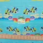 Tiki-Tiny Lounge Fish Michael Miller Cotton Fabric By Yard
