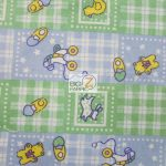 Baby Playtime Flannel Fabric Green By Yard