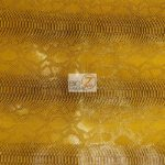 Mamba Gold Sopythana Snake Vinyl Fabric By The Yard