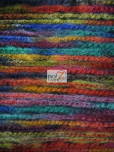 Mexican Poncho State Wool Fabric Multi Color