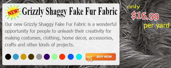 NEW Solid Grizzly Fake Fur Fabric By Yard