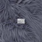 Solid Grizzly Fake Fur Fabric By Yard Gray