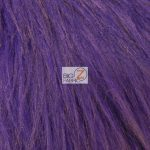 Solid Grizzly Fake Fur Fabric By Yard Purple