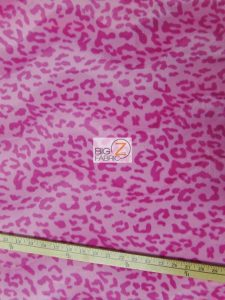 Baby Pink Leopard Velboa Fabric By The Yard