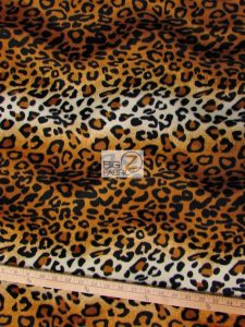 Gold Leopard Velboa Fabric By The Yard