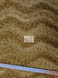 Light Coffee Leopard Velboa Fabric By The Yard
