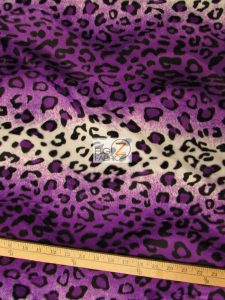 Purple Leopard Velboa Fabric By The Yard