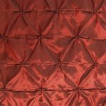Burgundy Button Style Taffeta Fabric By The Yard