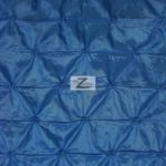 Royal Blue Button Style Taffeta Fabric By The Yard
