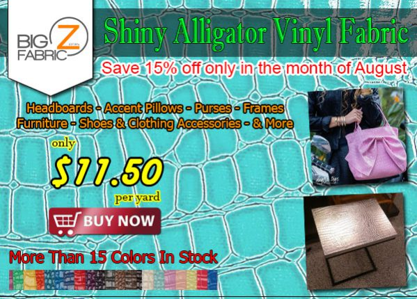 Shiny Alligator Vinyl Fabric Sale