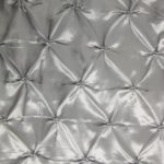 Silver Button Style Taffeta Fabric By The Yard