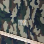 Army Camo Print Fleece Fabric By The Yard