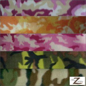 Camo Print Fleece Fabric By The Yard