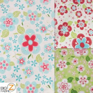 Blooms Riley Blake Cotton Duck Fabric By The Yard By The Yard