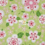 Blooms Riley Blake Cotton Duck Fabric Green By The Yard