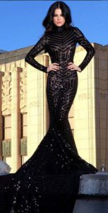 Cosmic Mini Disc Geometric Sequin Dress